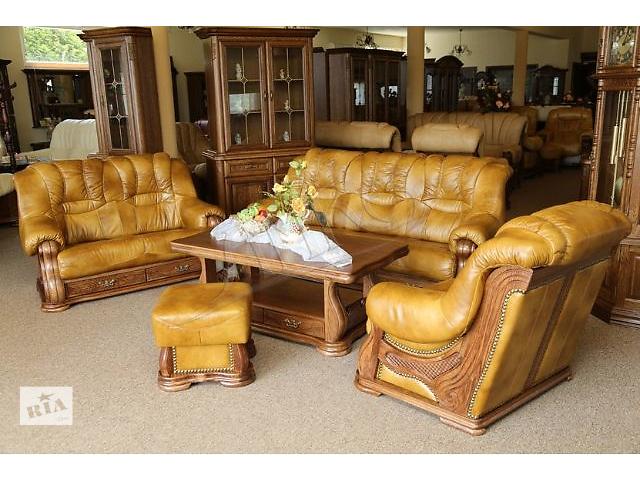 продам Оригинал! Кожаный диван и кресло Cheverny 3+1 (Новые, Польша ). Кожаная мебель от производителя. Ком бу в Луцке