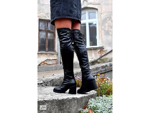 Ботфорты евро-зима на каблуке, ботфорды 36-40р- объявление о продаже  в Ровно