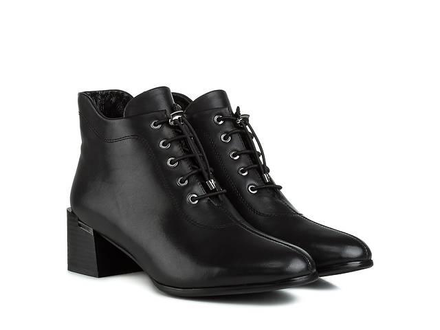 продам Ботильоны женские VIDORCCI (черные, элегантные, стильные, удобные, модный дизайн) 38 бу в Червонограде
