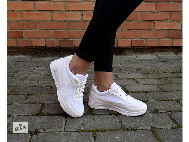 купить бу Кроссовки белые Nike Air Max женские в Дубні (Рівненській обл.) 53e83da6514c5
