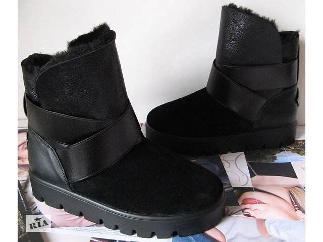 купить бу Стиляшки! Жіночі теплі зимові чоботи уггі в стилі Yves Saint  Laurenнатуральная овчина в 76397ef39fdfc