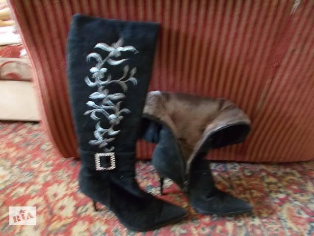 Замшиві теплі чоботи. - Жіноче взуття в Львові на RIA.com 032c5cbefee48