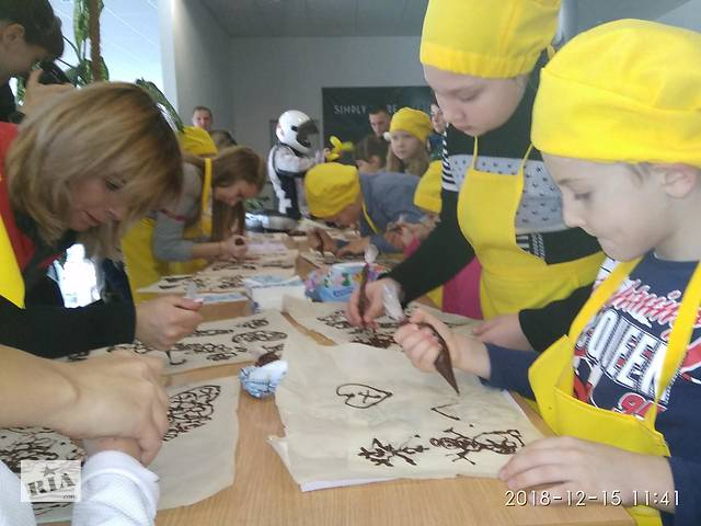 купить бу шоколадная роспись на детский праздник день рождения в Виннице