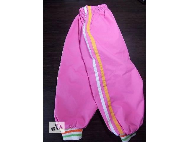 бу Штаны (штанишки) тёплые на флисе для девочки (1-1,5 года, р.70–82см)  в Киеве
