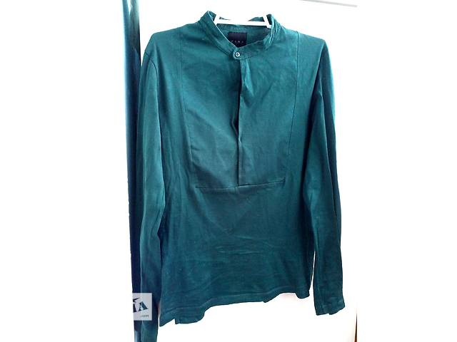 купить бу Шикарная блуза-кофточка изумрудного цвета от zara в Киеве