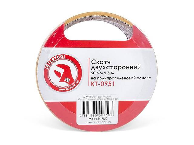 Скотч двухсторонний 50 мм*5 м на полипропиленовой основе INTERTOOL KT-0951- объявление о продаже  в Ивано-Франковске