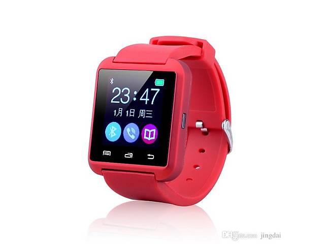 купить бу Смарт часы Smartwatch U8 красные в Харькове