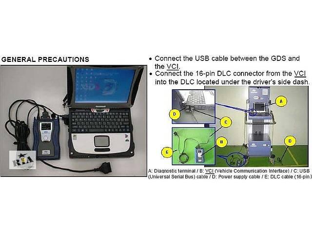 Комплект для диагностики KIA, Hyundai. Ноутбук Dell бу, GDS VCI, установленные программы- объявление о продаже  в Днепре (Днепропетровск)