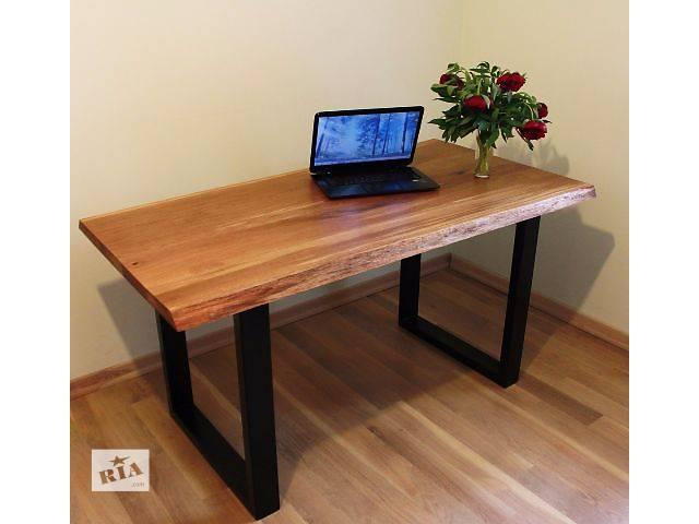 купить бу Современный стол для кухни или офиса из массива дуба в стиле live edge в Киеве
