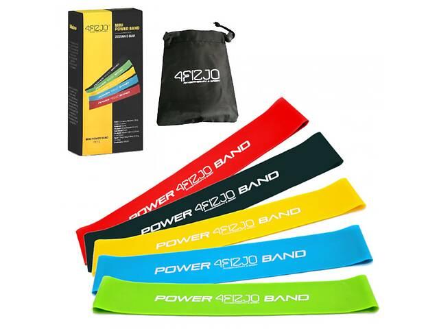 продам Резинка для фитнеса и спорта (лента-эспандер) 4FIZJO Mini Power Band 5 шт 1-20 кг 4FJ1110 бу в Києві