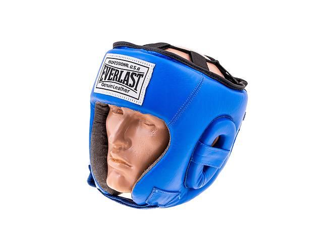 Шлем боксерский открытый кожа Everlast EVSV480 син- объявление о продаже  в Одессе