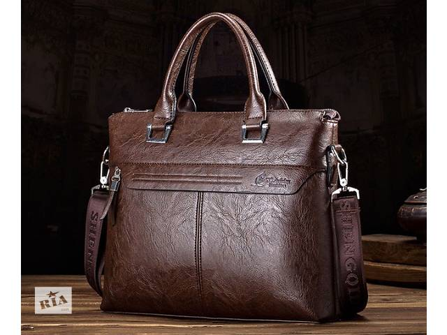 Стильная мужская сумка с ручками. Размер 36-26-6 см. Варианты- объявление о продаже  в Киеве