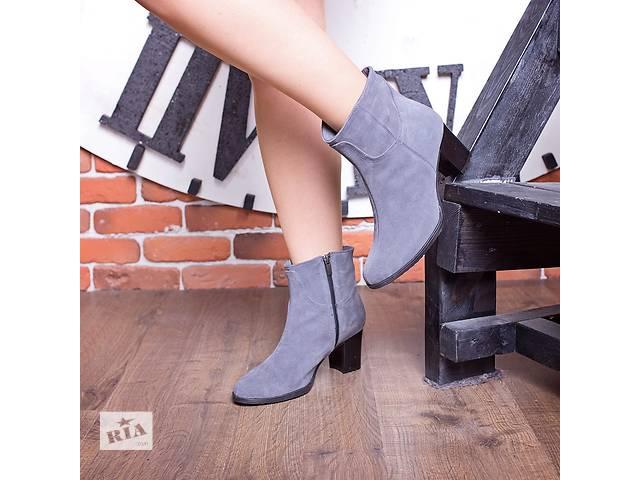 купить бу Стильные новые ботиночки, ботинки из натурального замшу в Ивано-Франковске