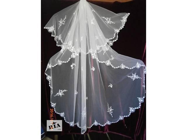 Свадебная фата (ручная вышивка)- объявление о продаже  в Киеве