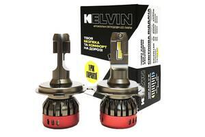Светодиодные автолампы H4 Kelvin Fseries Led лампы для авто 8000Lm 6000K