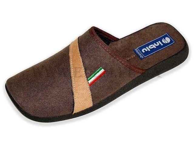 Тапочки мужские Inblu AC-3Q темно-коричневые- объявление о продаже  в Полтаве