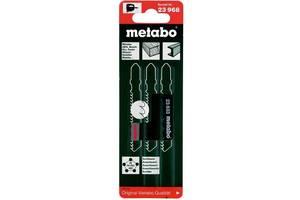 Набор пилок Metabo лобзиковых 3шт. (T101B, T144D, T118A)