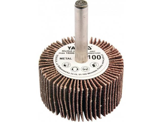 купить бу YATO Круг  Ø= 40 мм з наждачних пелюстків К80, з захватом до дрилі, 20х6 мм в Ивано-Франковске