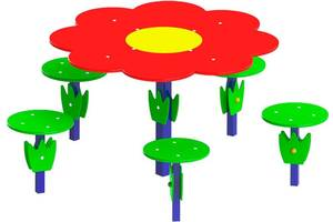"Столик ""Поляна"", діаметр столу 67см"