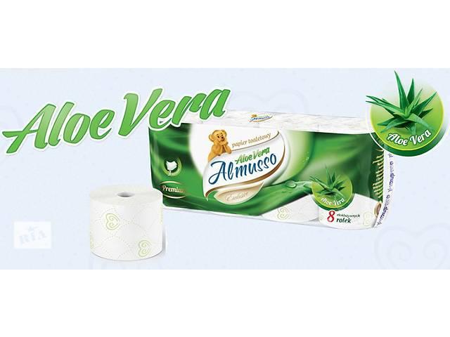купить бу Трехслойная туалетная бумага с бальзамом Almusso Aloe Vera Польша оптом и в розницу в Нововолынске