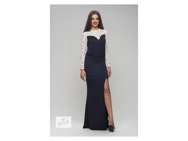 продам Трикотажное чёрное с молочным платье арт.3612 бу в Киеве