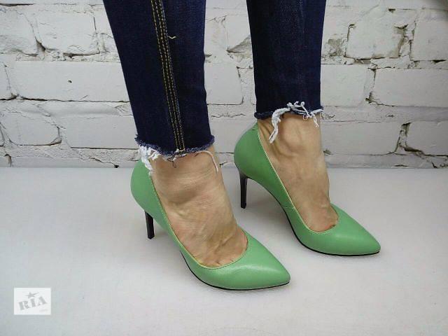 Туфлі човники зелені шкіра новинка 2016 - Жіноче взуття в Одесі на ... cd7b96285c202