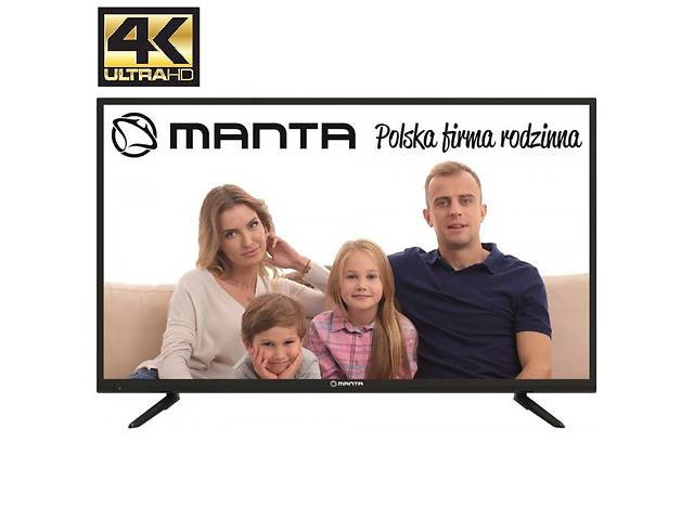 бу Телевизор Manta 43LUN58K (60Гц, UltraHD 4K, Dolby Digital 2 x 10Вт, DVB-C/T2) в Луцке
