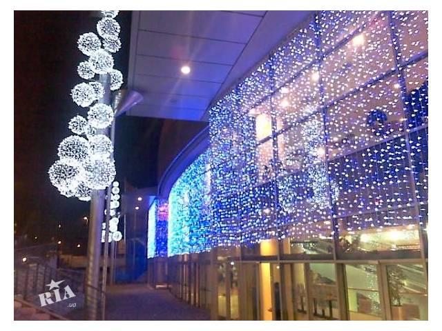 купить бу Украшение дома к Новому году,рождеству,праздничное новогоднее оформление,оформление зданий гирляндами  в Украине