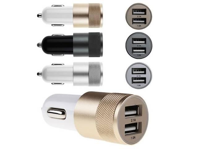 купить бу USB зарядное устройство в прикуриватель 2.1A и 1A в Днепре (Днепропетровск)