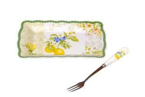 Блюдо с вилочкой Lefard Лимон 15 см 924-414