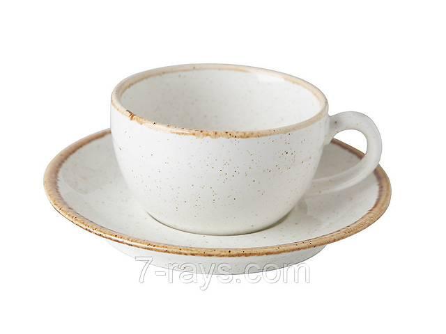 Чашка 200 мл. фарфоровая, бежевая Seasons Beige, Porland (блюдце 213-132115.B)- объявление о продаже  в Дубно