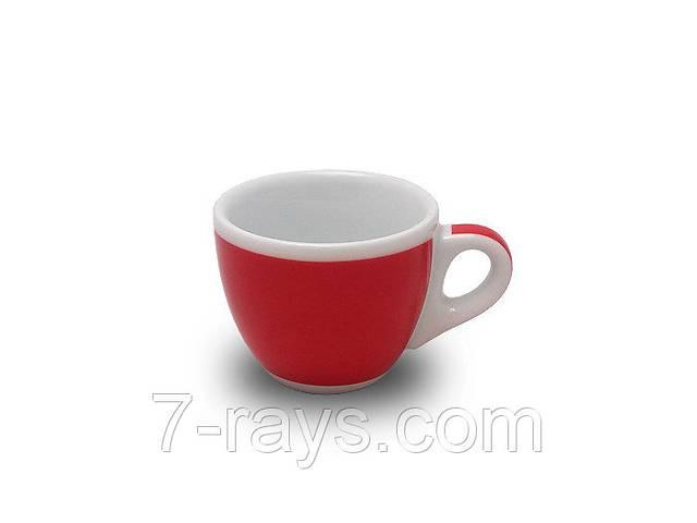 Чашка 75 мл. фарфоровая, белая с красной полоской espresso Verona Millecolori, Ancap- объявление о продаже  в Дубно