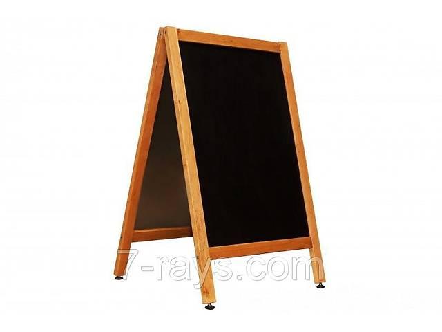 купить бу Доска информационная (Штендер) 60х80/110 см. двухсторонний для написания мелом деревянный в Дубно