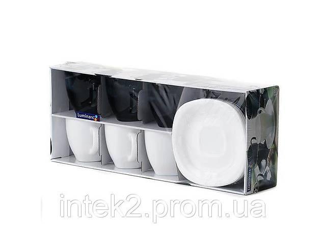 продам Luminarc Carine Black/White набор (сервиз) чайный 220мл d2371 бу в Запорожье