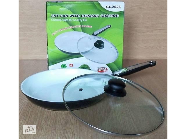 купить бу Сковорода с керамическим покрытием 28 см Green Life GL-2028 в Киеве