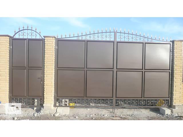 продам ворота въездные металлические бу в Мариуполе