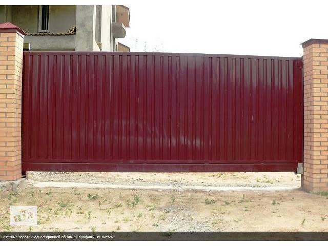 купить бу Ворота откатные, распашные, раздвижные, гаражные, промышленные, секционные, забор  в Киеве