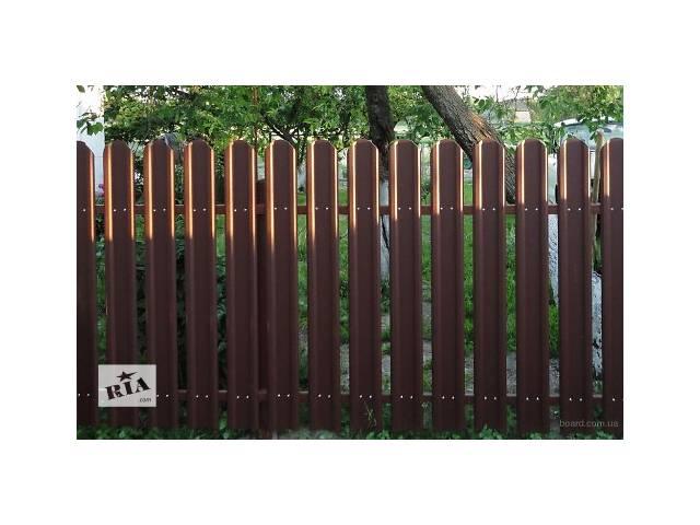 купить бу Ворота и заборы. Евроштакет. Ограждения из металлического штакетника.  в Украине