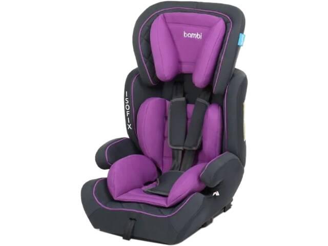 Детское автокресло с бустером для детей Bambi M 4250 (9-36 кг) с системой ISOFIX Фиолетовый- объявление о продаже  в Львове