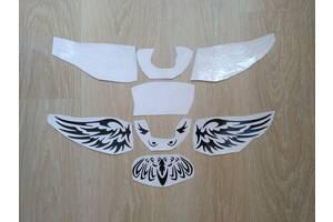 Наклейка на авто Сова на задний значок автомобиля для Mazda 2, 3, 5, 6, CX-3, CX-5, CX-7, MX-3