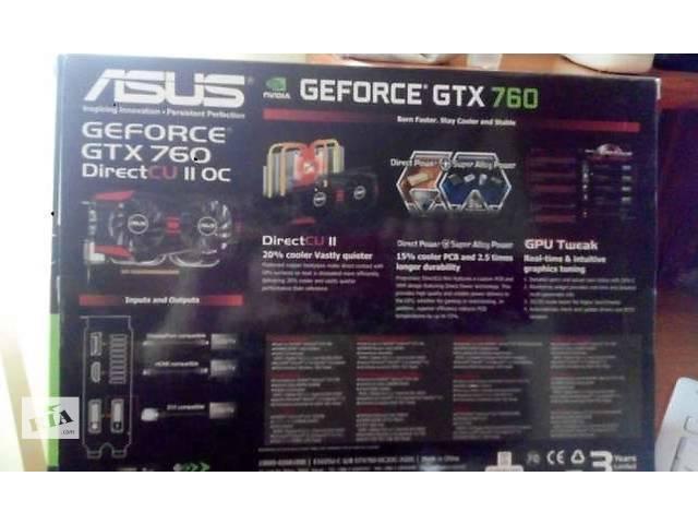 купить бу Видеокарта Asus GeForce GTX 760 DC II 2048MB GDDR5 в Броварах