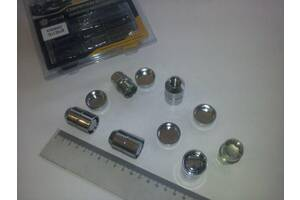 Гайки секретные М12х1,25х36, Walline (416444 Х2) внутр./конус/закрытые/вращ. кольцо/защ. колпачок
