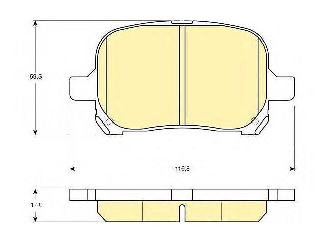 продам Комплект тормозных колодок, дисковый тормоз GIRLING для TOYOTA PREVIA бу в Харькове