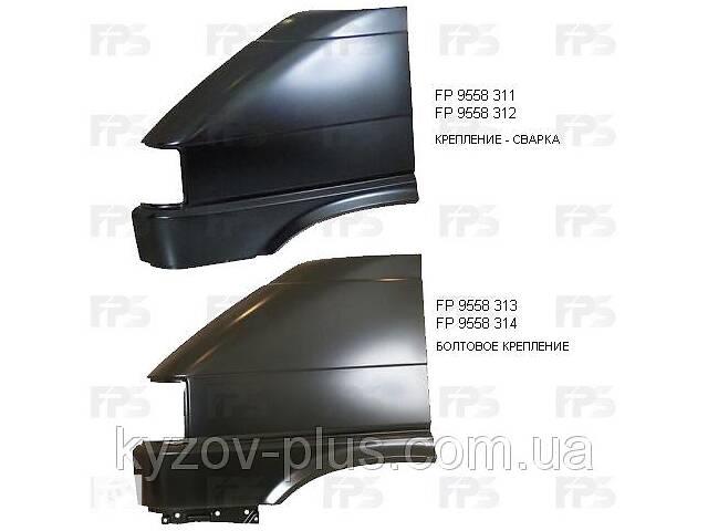 купить бу Крыло переднее правое VW Transporter T4 91-03, кроме TDI, без отв. воздухозаб. (FPS) Volkswagen FP 9558 312 в Киеве