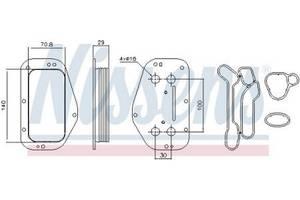 Масляный радиатор SAAB / FIAT / OPEL / ALFA ROMEO / VAUXHALL / CHEVROLET
