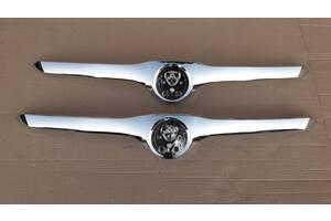 Молдинг улыбки капота хром накладка никель птичка на капот грыль молдинг капота логотип для Skoda SuperB 2008 - 2012 год