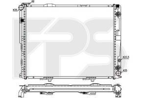 Радиатор охлаждения двигателя Mercedes 124 Мерседес 84-96 , FP46A1038X NRF