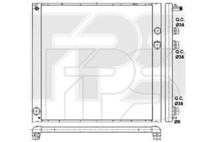 Радиатор охлаждения двигателя Land Rover Range Rover III (Nissens) FP 43 A330-X