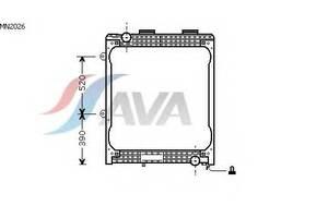 Радиатор охлаждения MAN F2000(94-) Glyser 182026