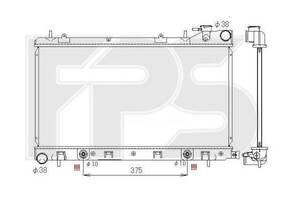 Радиатор Subaru Forester 20i (02-)